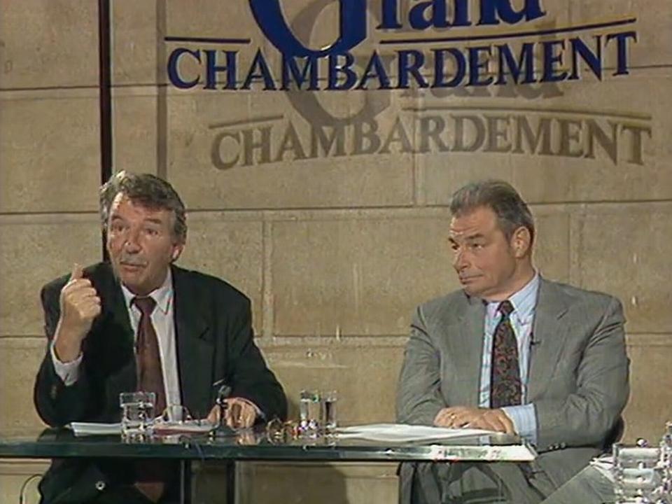 René Felber et Jean-Pascal Delamuraz, défenseurs de la Suisse européenne, 1992 [TSR 1992]
