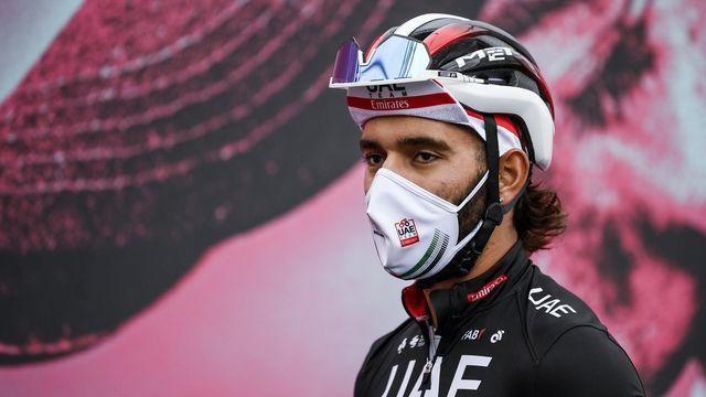 Gaviria doit quitter le Giro à 5 jours de l'arrivée. [Marco Alpozzi - Keystone]