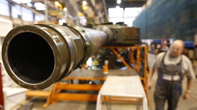 La valeur du matériel de guerre exporté par la Suisse en 2020 pourrait atteindre un niveau record. [Moritz Hager - Keystone/EQ]