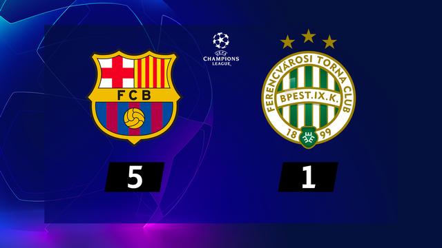 1re journée, Barcelone - Ferencvaros (5-1): le Barça s'impose sans forcer [RTS]