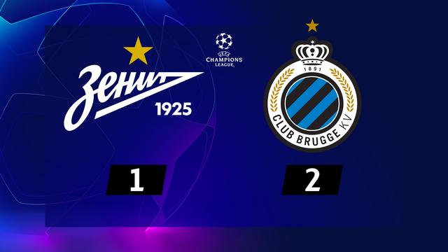 1re journée, Zenit - Club Bruges (1-2): Bruges s'impose en toute fin de match [RTS]