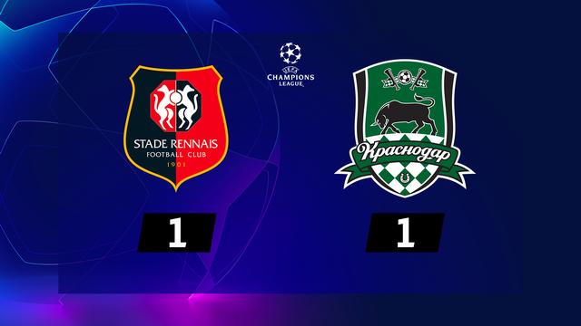 1re journée, Rennes - Krasnodar (1-1): pas de vainqueur en Bretagne [RTS]