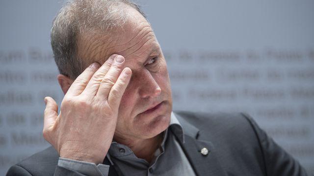 Le conseiller national Pierre-André Page s'oppose la loi sur le CO2, car elle punit le citoyen par des taxes, selon lui. [Marcel Bieri - KEYSTONE]
