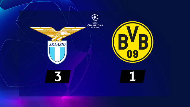 1re journée, Lazio - B.Dortmund (3-1): sans Akanji, Dortmund s'incline contre la Lazio