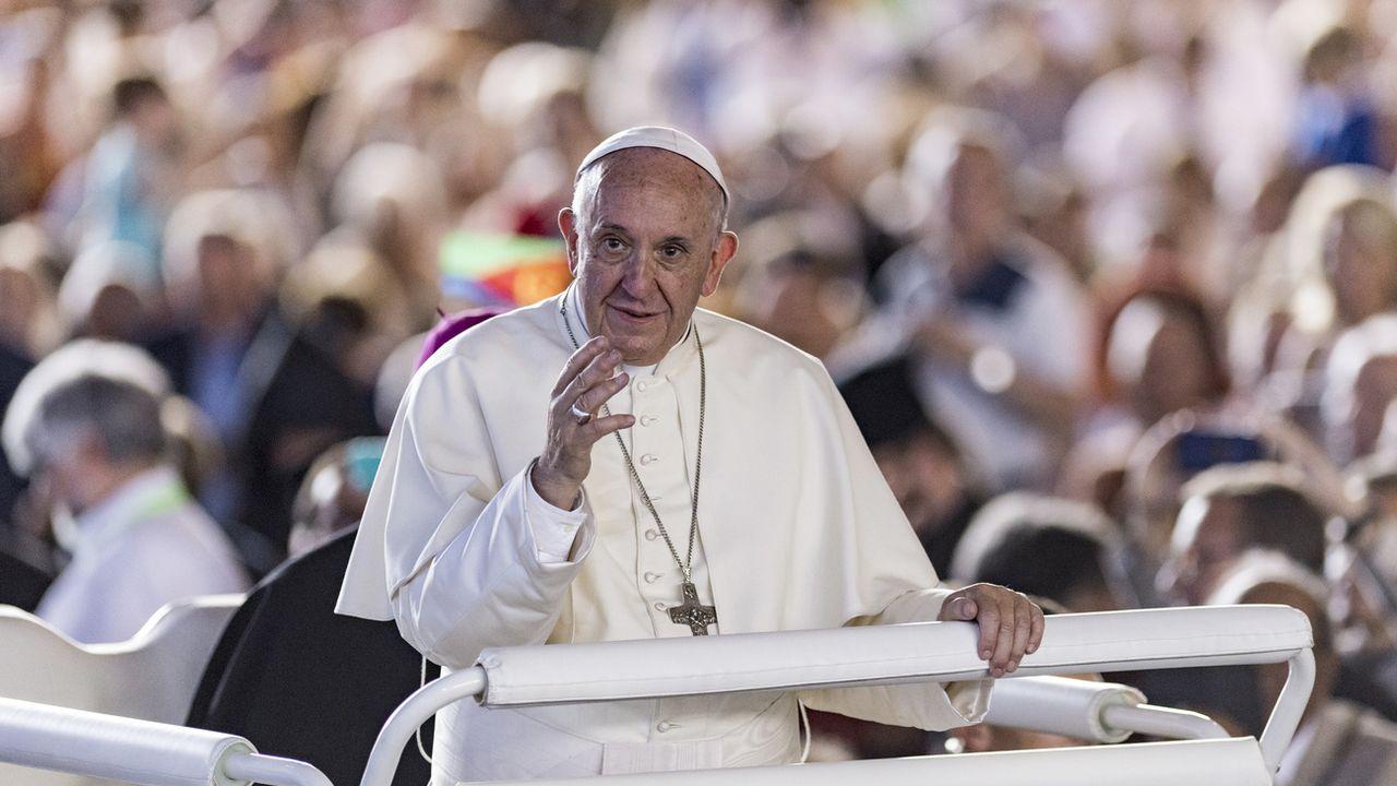 Le pape François lors de sa visite à Genève en 2018. [Martial Trezzini - Keystone]
