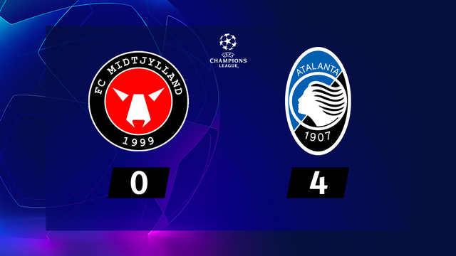 1re journée, Midtjylland - Atalanta (0-4): l'Atalanta s'amuse au Danemark