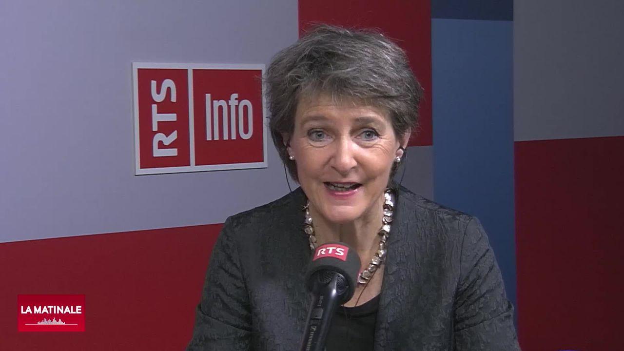 L'invitée de La Matinale (vidéo) - Simonetta Sommaruga, présidente de la Confédération [RTS]