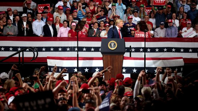 DonaldTrump et ses supporters en février 2020. [Gage Skidmore - CC by SA 2.0 Wikimedia]
