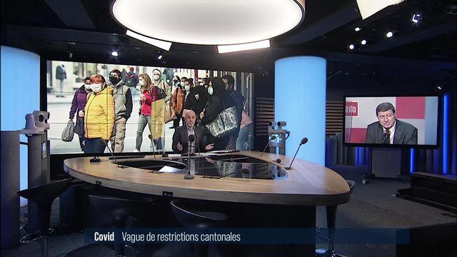 Canton par canton, les mesures désormais en vigueur face au Covid-19: interview de Mauro Poggia [RTS]