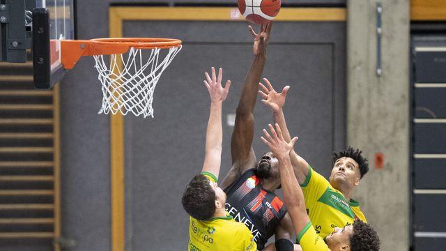 Basket: le basket suisse découvre le huis clos. [Laurent Gillieron - Keystone]