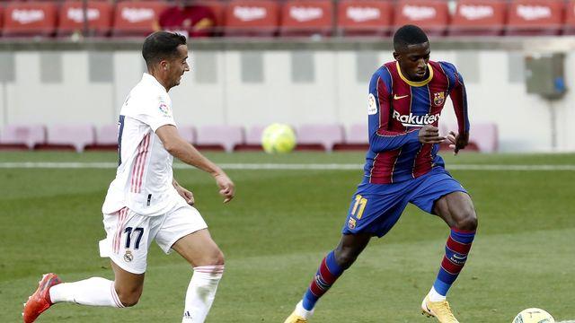 Foot inter: un Camp Nou vide pour un classico particulier. [Andreu Dalmau - EPA/ Keystone]
