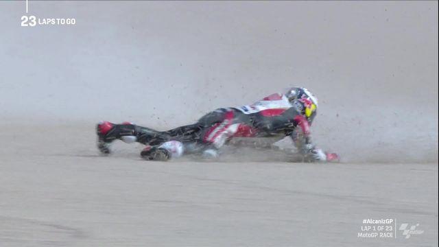 GP de Terruel (#10), MotoGP: Takaaki Nakagami (JPN) chute [RTS]