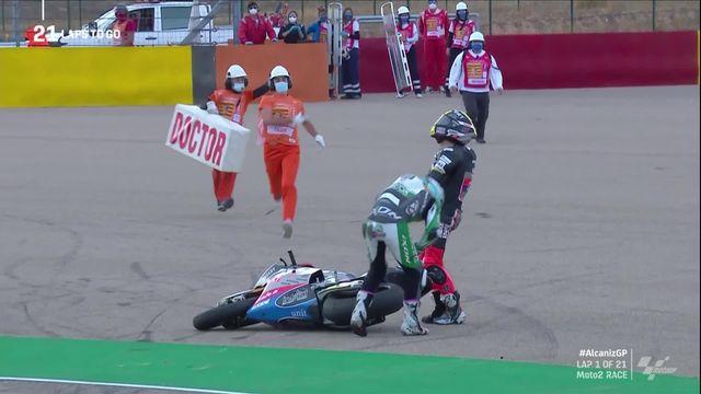 GP de Terruel (#10) moto2 : Thomas Lüthi (SUI) chute d'entrée ! [RTS]