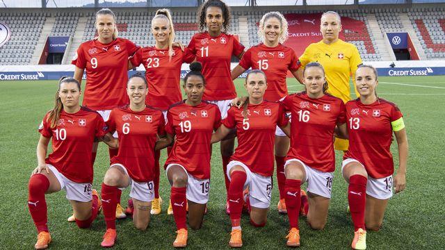 L'équipe nationale suisse féminine de football. [Peter Schneider - Keystone]
