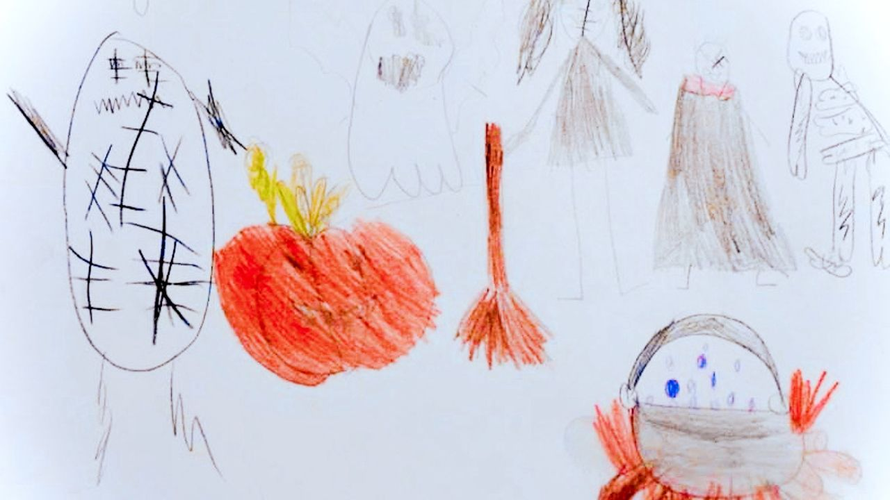 """Halloween"", un dessin réalisé par Maya. [Maya]"