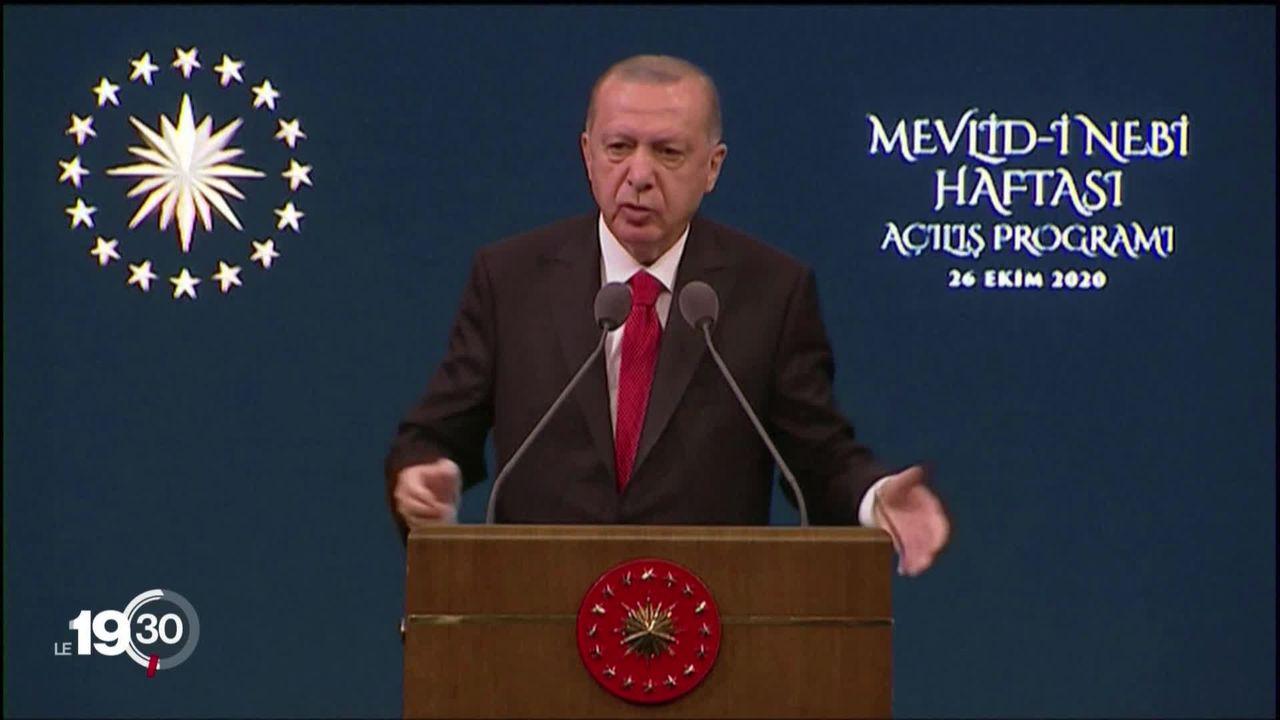 Le ton monte entre la France et la Turquie, guerre des mots entre les présidents Macron et Erdogan. [RTS]