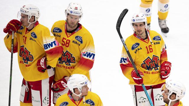Le HC Bienne n'affrontera pas Rapperswil ce soir. [Laurent Gillieron - Keystone]