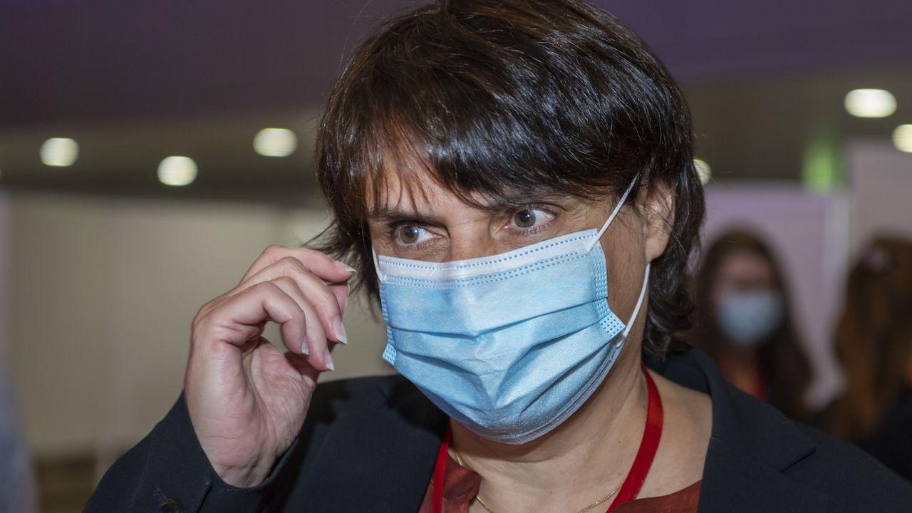 Elisabeth Ackermann, la présidente verte de l'exécutif de Bâle-Ville jette l'éponge. [Georgios Kefalas - Keystone ]
