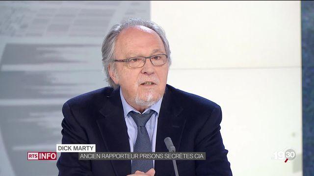"""Dick Marty: """"Cette arrestation est choquante pour quelqu'un qui a dit la vérité, qui a révélé des pratiques criminelles."""" [RTS]"""
