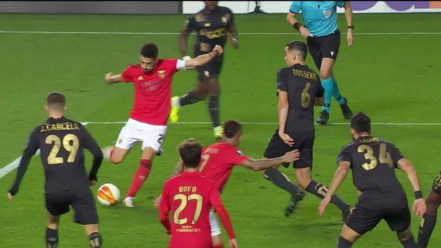 2e journée, Benfica – Standard Liège (3-0) : les Portugais s'imposent grâce notamment à deux penaltys obtenus [RTS]