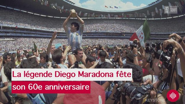 Foot: Maradona fête ses 60 ans [RTS]