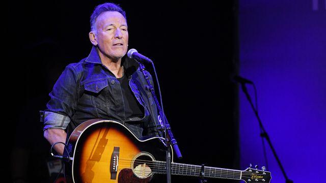 La chanteur et musicien américain Bruce Springsteen sur la scène du Madison Square Garden, à New York, le 4 novembre 2019. [Mike Coppola/ GETTY IMAGES NORTH AMERICA - AFP]