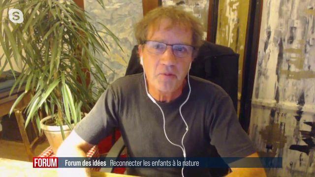 """Interview de Frédéric Plénard, auteur de l'ouvrage """"l'enfant et la nature"""". [RTS - RTS]"""