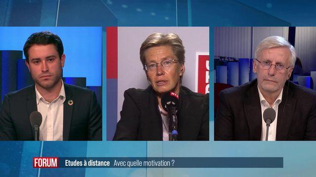 Débat entre Astrid Epiney, Jacques Chapuis et Nicolò Ferrari. [RTS - RTS]