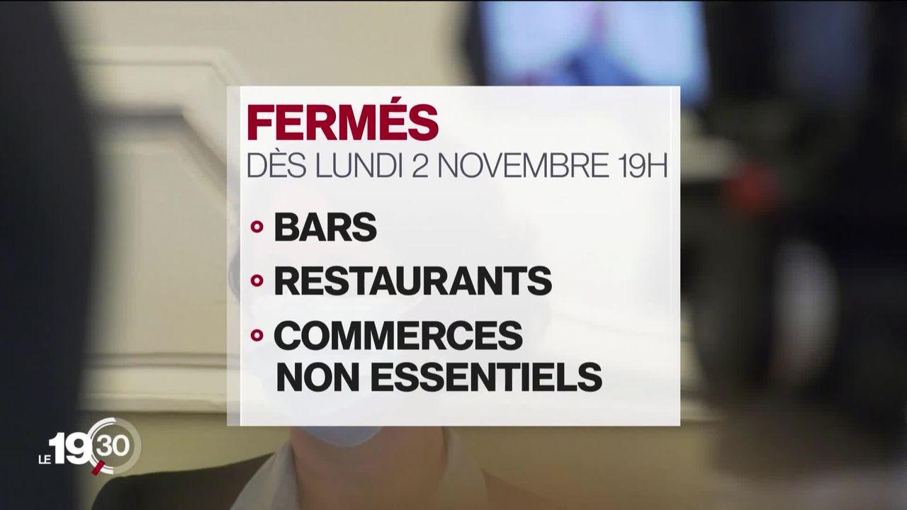 Bars et restaurants fermés dès lundi à Genève. [RTS]