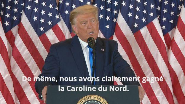 Le discours de Donald Trump [RTS]