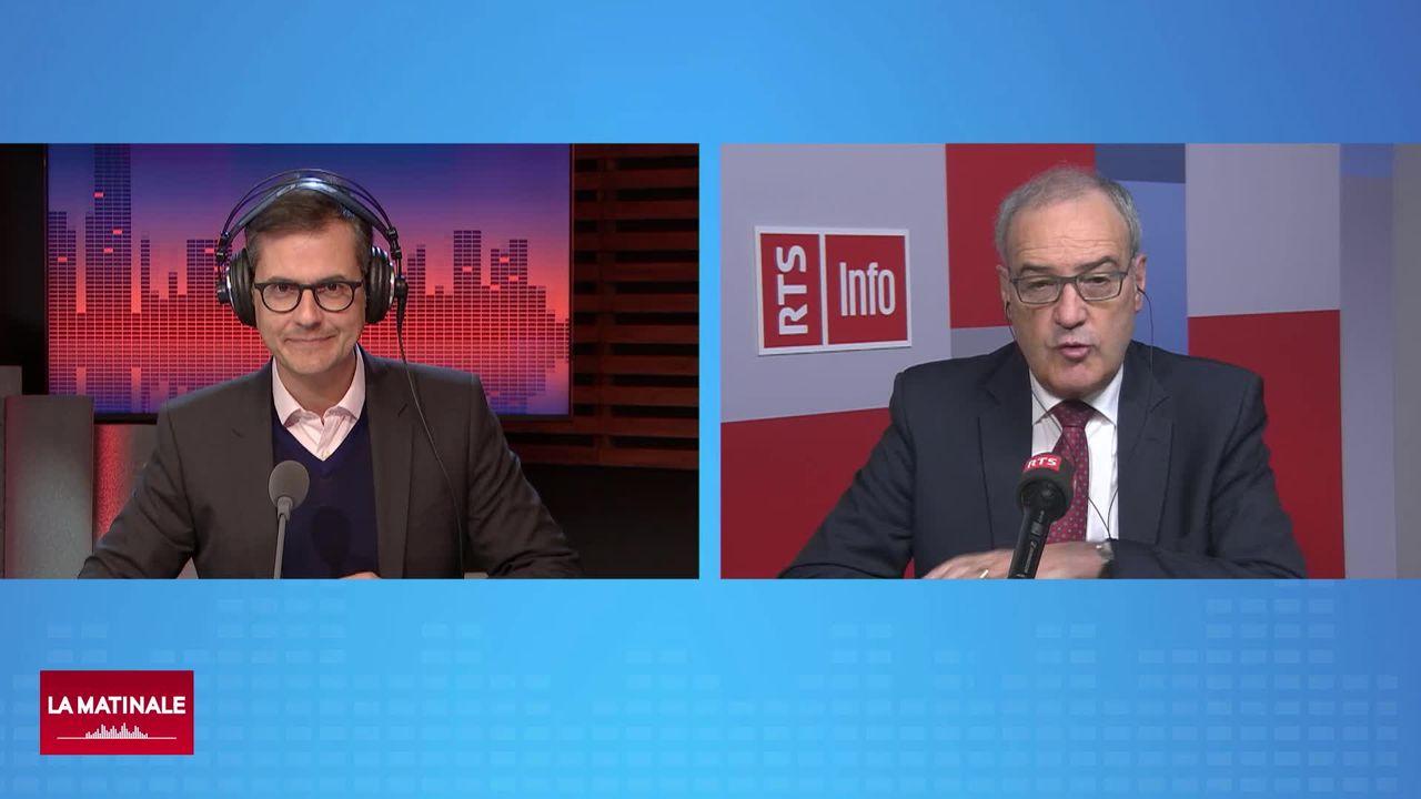 L'invité de La Matinale (vidéo) - Guy Parmelin, conseiller fédéral en charge de l'Economie [RTS]