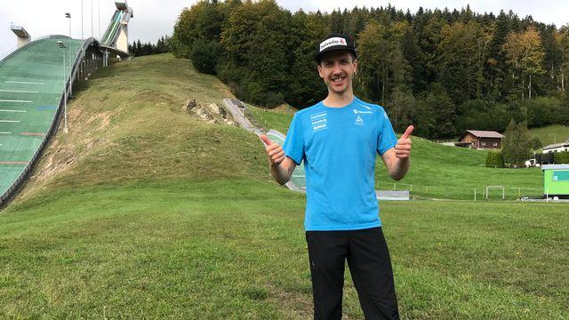 Simon Ammann attend beaucoup des Mondiaux de vols à ski prévus en décembre à Planica. [Sébastien Schorderet - RTS]