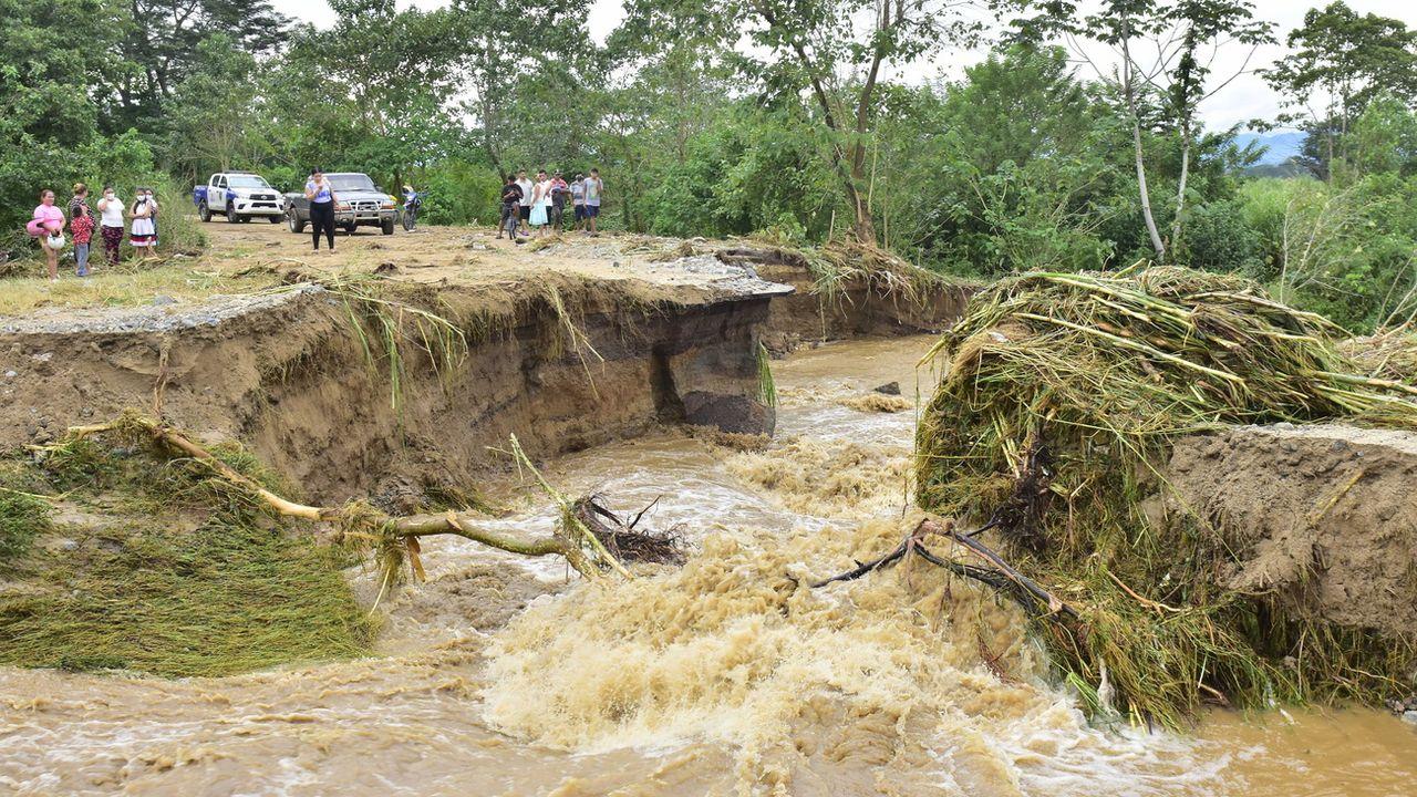 Le passage de l'ouragan Eta a provoqué des pluies torrentielles et d'importantes inondations au Honduras. [KEYSTONE - KEYSTONE]