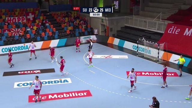 Suisse - Macédoine (23-25): courte défaite de la Suisse à domicile [RTS]