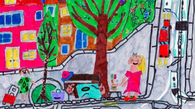 """""""Les sans-abris"""", un dessin réalisé par Adèle et Firmin. [Adèle et Firmin]"""