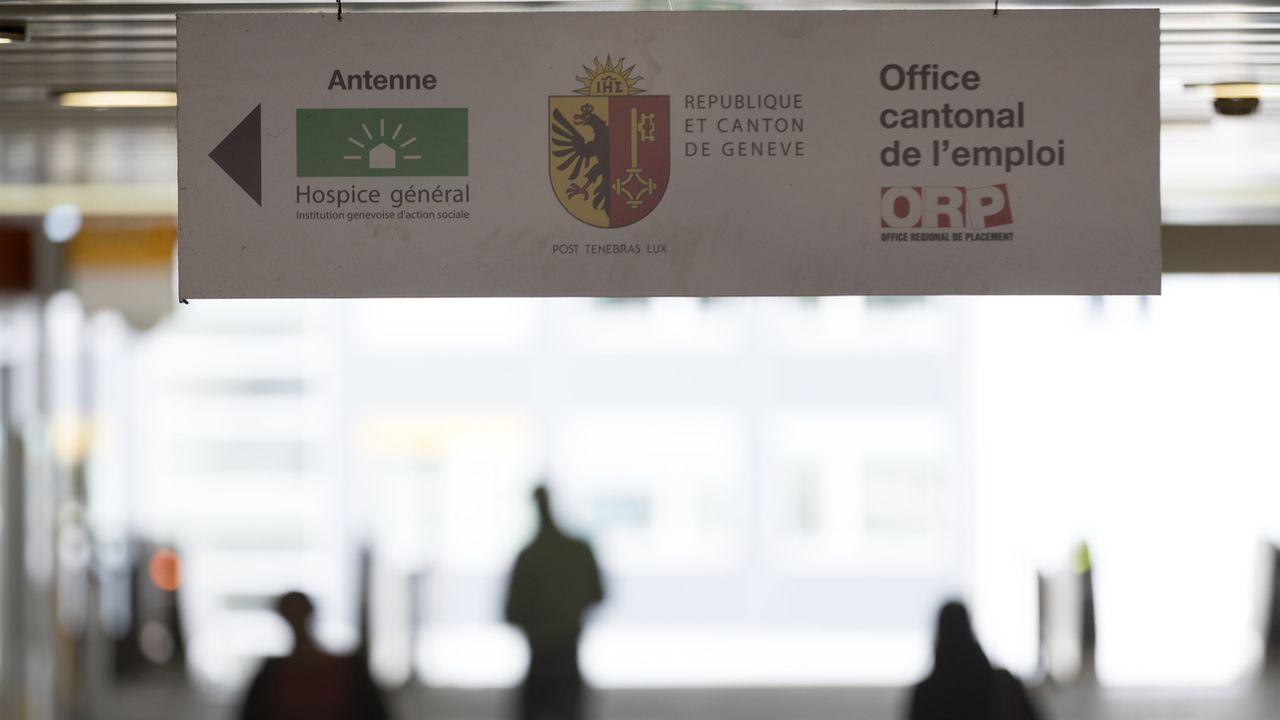 Avec le Jura, Genève est l'un des cantons romands, dont le taux de chômage est le plus élevé.  [KEYSTONE/Gaetan Bally - KEYSTONE/Gaetan Bally]