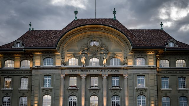 Le siège de la Banque nationale suisse (BNS) sur la place Fédérale à Berne. [Fabrice Coffrini - AFP]