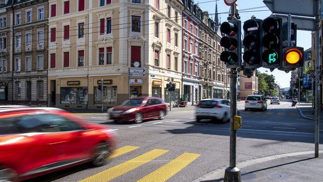 La Klybeckstrasse à Bâle. [Georgios Kefalas - Keystone]