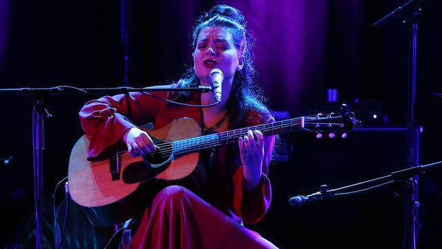 La chanteuse helvético-albanaise Elina Duni. [Mohamed Messara - Keystone/EPA]