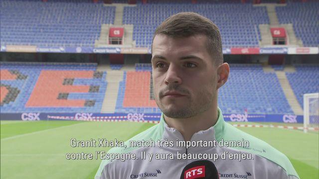 """Granit Xhaka: """"Nous avons des joueurs capables de faire la différence face à l'Espagne"""" [RTS]"""
