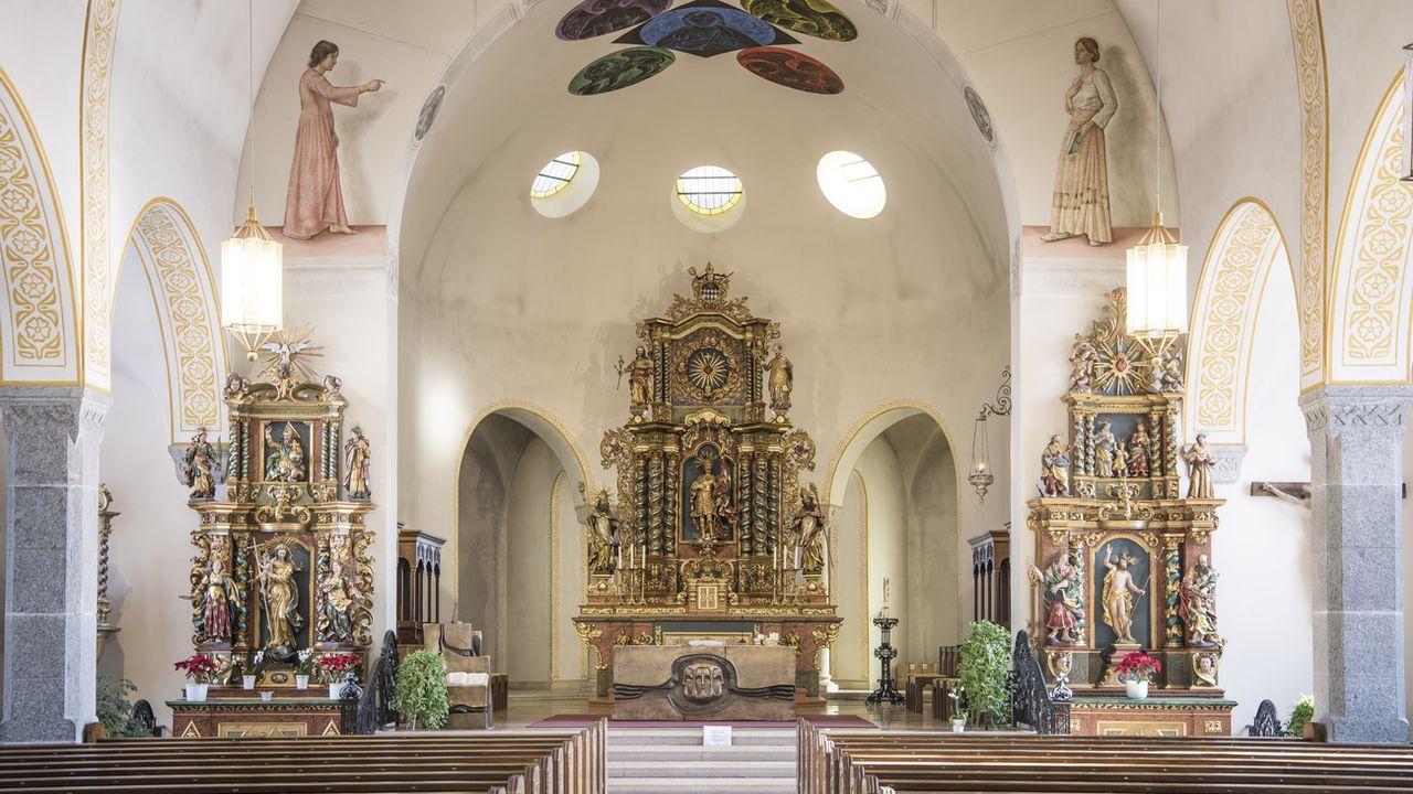 L'église Saint-Maurice de Zermatt (VS). [Christian Beutler - Keystone]