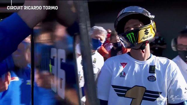 GP de Valence (#12), MotoGP: Juan Mir (ESP) célèbre le titre avec son équipe [RTS]