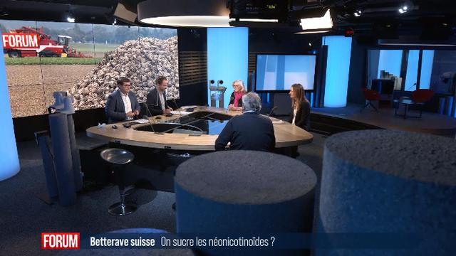 Débat entre Philippe Cornamusaz, député PLR au Grand Conseil vaudois, et la conseillère d'Etat Adèle Thorens (Les Verts/VD). [RTS]