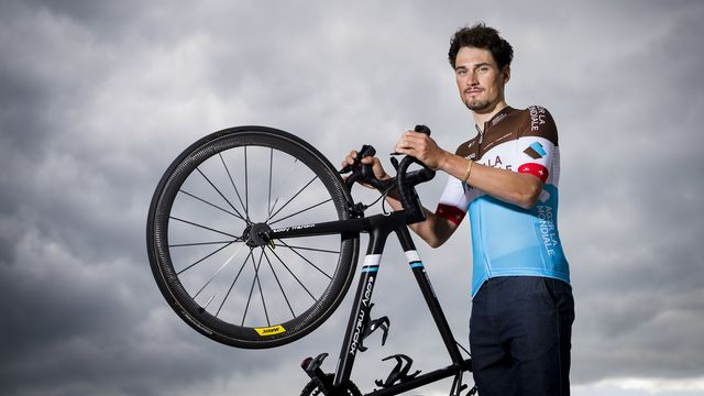 Silvan Dillier a évolué durant trois saisons au sein de l'équipe AG2R La Mondiale. [Jean-Christophe Bott - Keystone]