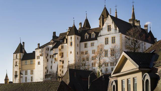Une vue du Château de Neuchâtel, siège du Gouvernement et du Parlement de la République et du canton de Neuchâtel. [Jean-Christophe Bot - Keystone]