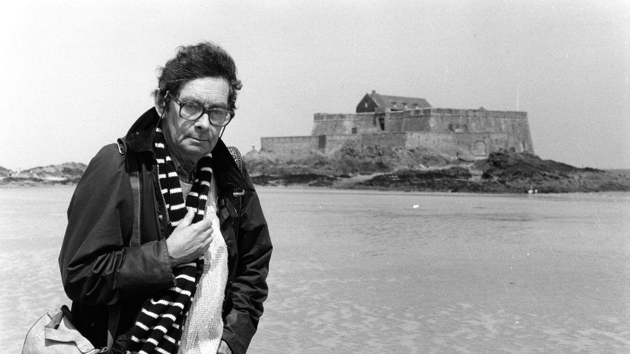 Nicolas Bouvier à Saint-Malo en 1990. [Ulf Andersen - AFP]