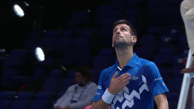 Round Robin, N. Djokovic (SRB) - D. Schwartzman (ARG) (6-3, 6-2): Djoko facile pour son entrée en lice (modifié) [RTS]
