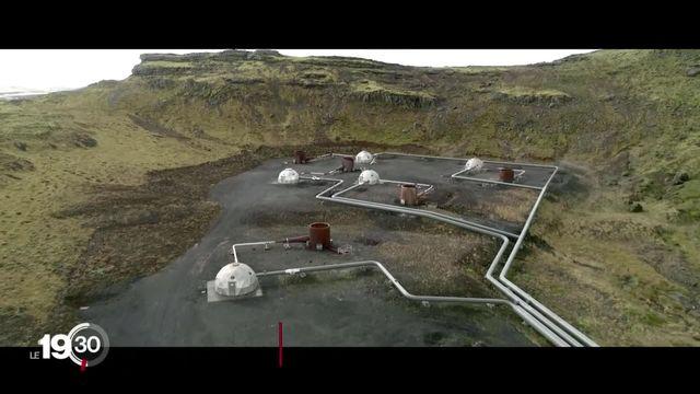 La surconcentration de CO2 dérègle le climat. La solution de l'entreprise suisse climeworks: capturer le CO2 et l'enfouir. [RTS]