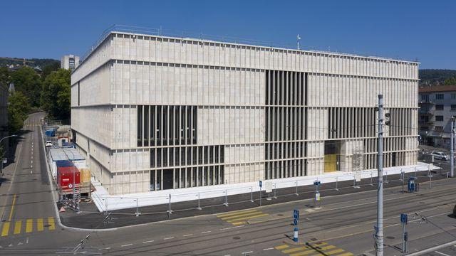 L'agrandissement du Kunsthaus de Zurich, photographié ici le 21 juillet 2020. [Christian Beutler - Keystone]