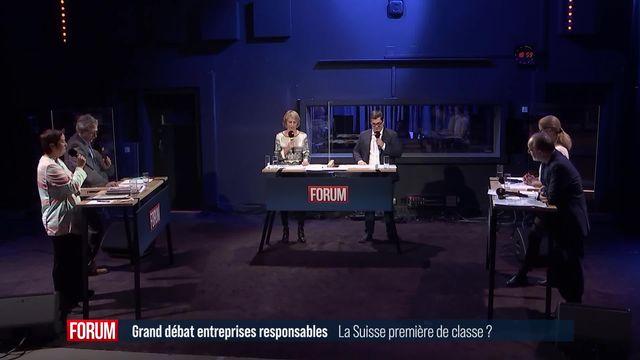 Le débat - Entreprises responsables: la dernière ligne droite [RTS]